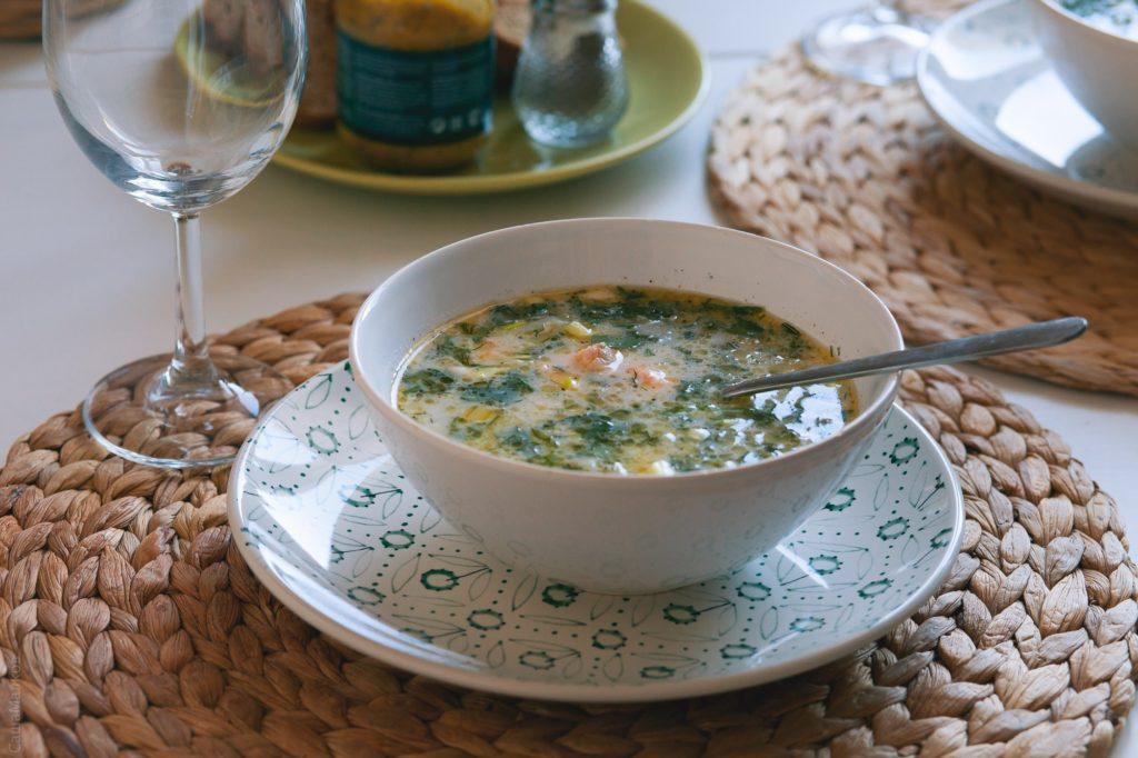 Finnish Creamy Salmon Soup (Lohikateto)