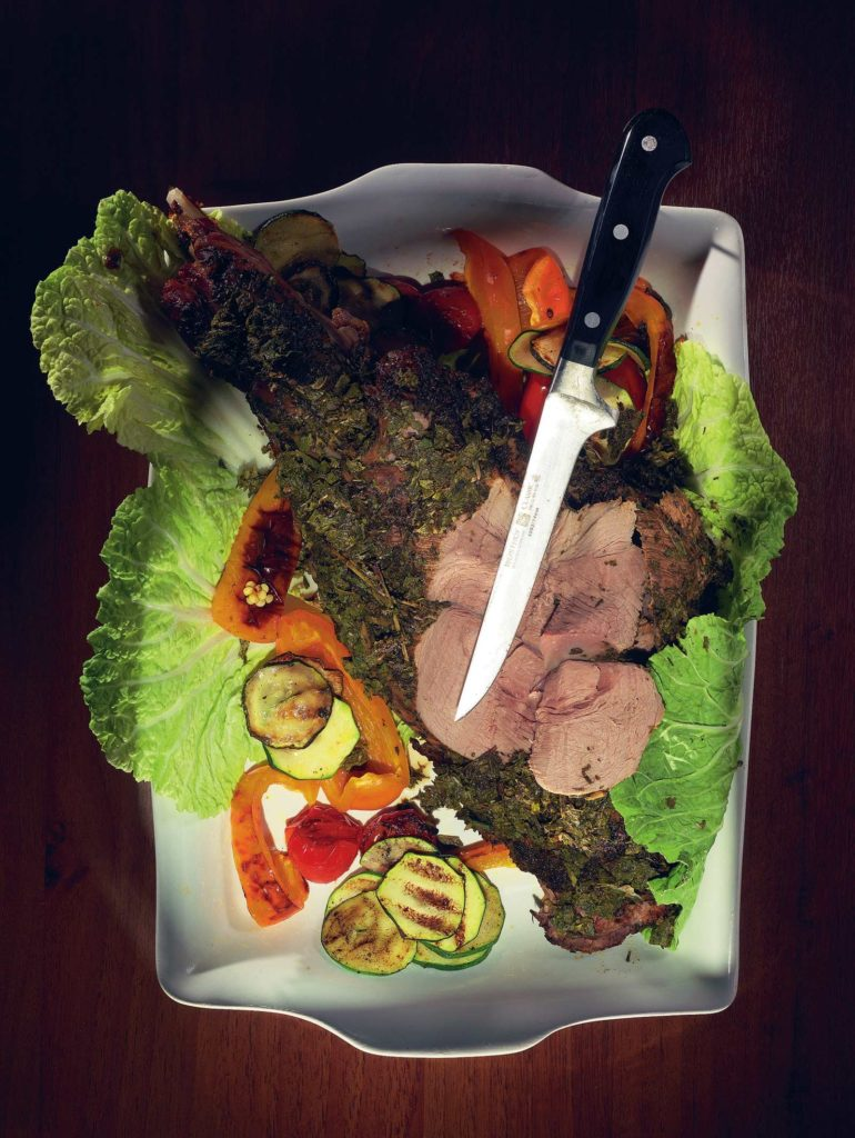 Breaded lamb with mint