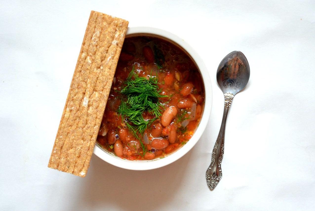 Hot red bean lobio