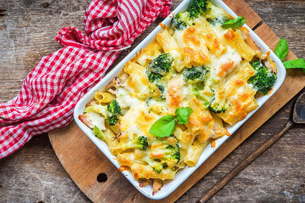 Casserole with vegetables and pasta