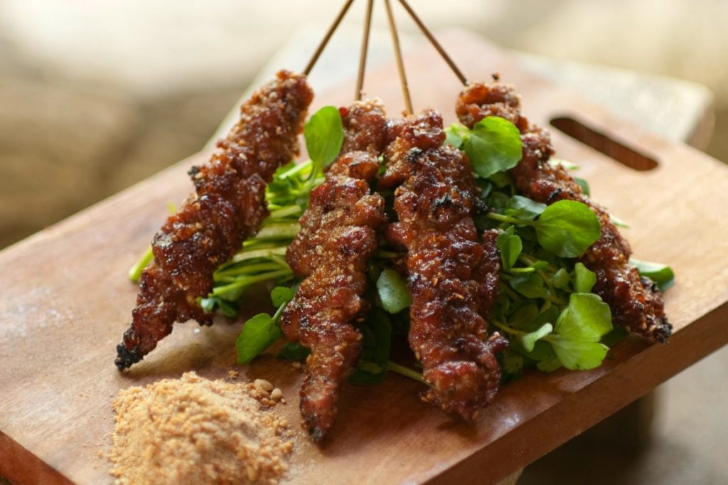 Beef Kebabs in Oyster Sauce