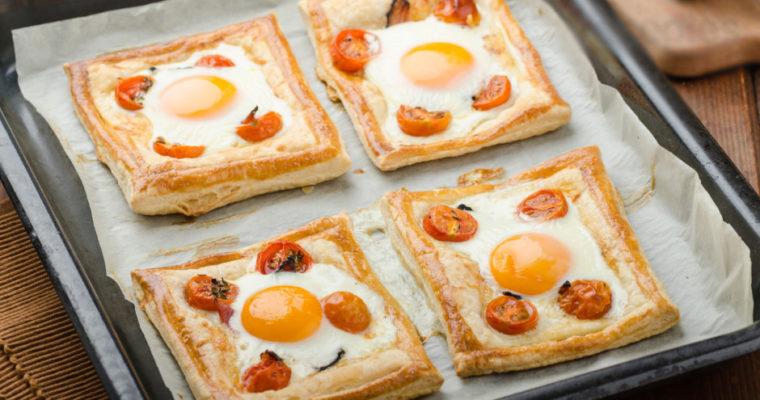 Puff pastry breakfast tarts