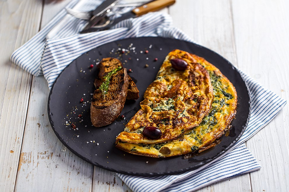 Greek Spinach Omelet