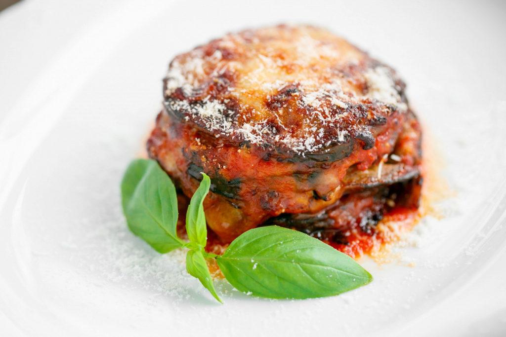 Parmigiana with mozzarella and parmesan cheese