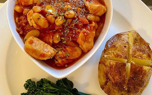Spanish Style Chicken & Chorizo Stew