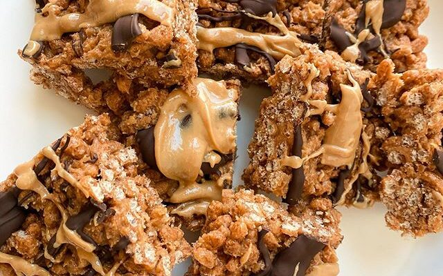Peanut Butter Chocolate Rice Krispies