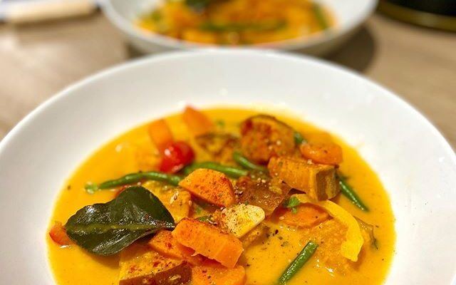 Sweet Potato, Ginger and Vegetable Coconut Curry