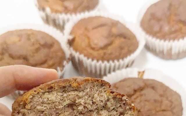 Beautiful low carb banana, cinnamon, almond flour muffins