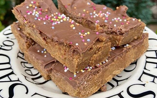 No Bake Lotus Protein Cookie Bars