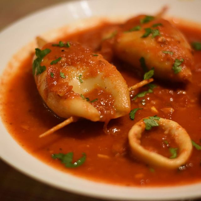 Stuffed calamari