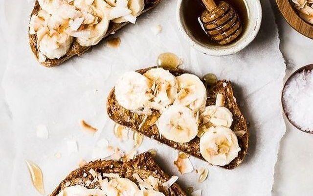 CBD Honey Almond Butter Toasts
