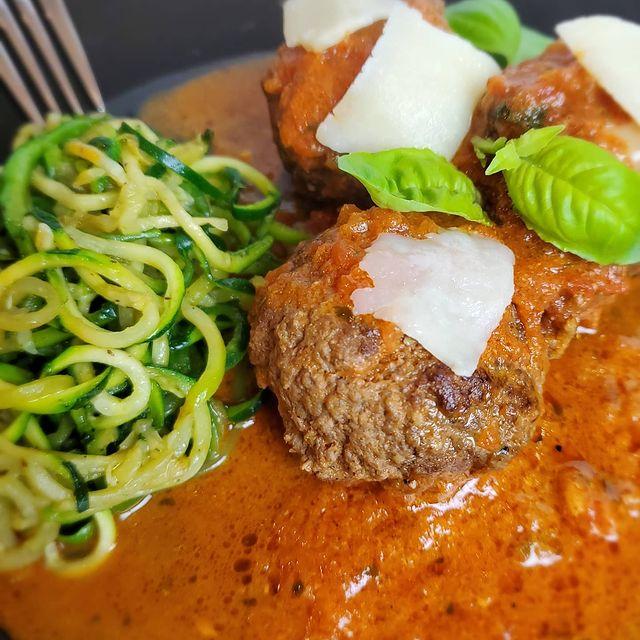 Keto Jumbo Cheesy Italian Meatballs