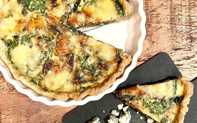 Spinach, Shallots and Stilton Quiche
