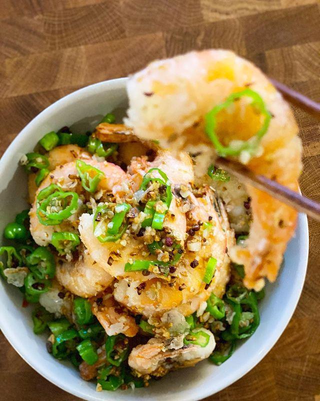 Szechuan salt & pepper shrimp
