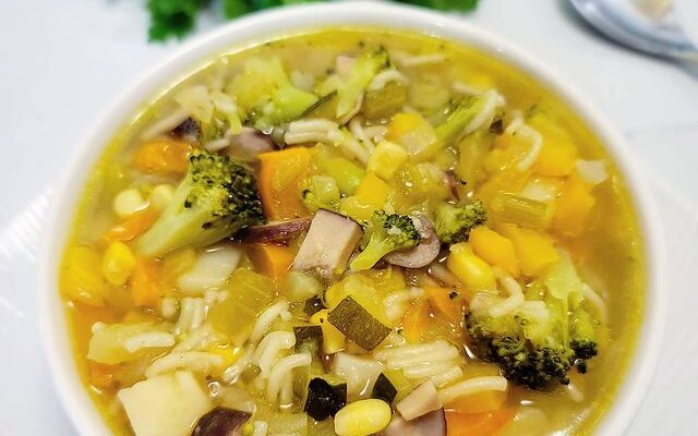 Vegetable Medley Soup with Vermicelli