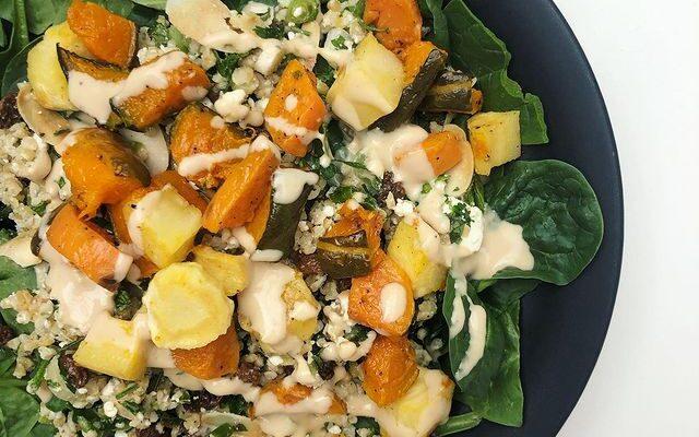 Bulgur Salad With Roasted Vegetables
