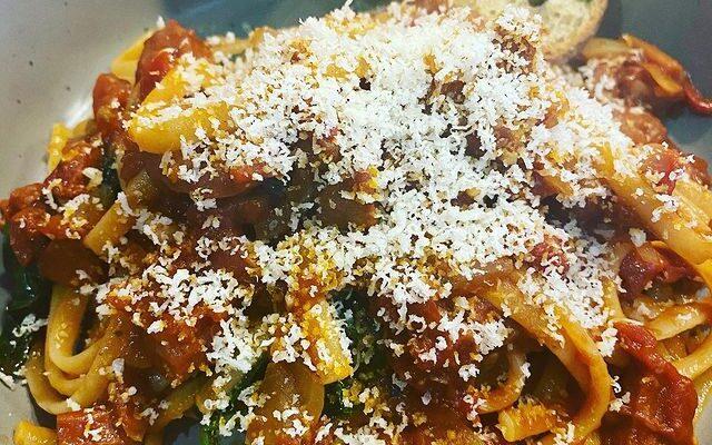 Chorizo Bolognese Linguini 