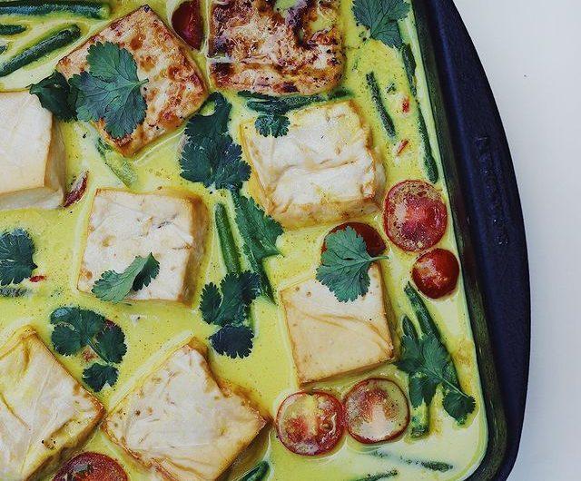 Brothy Coconut Mustard Tofu