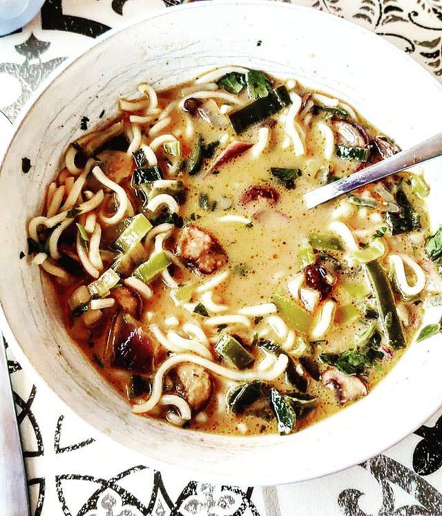 Tom Kha Kai Soup With Tempeh