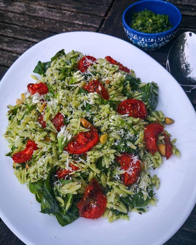 Wild Garlic Orzo Salad