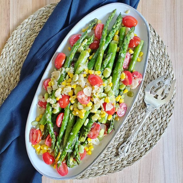 Asparagus Succotash