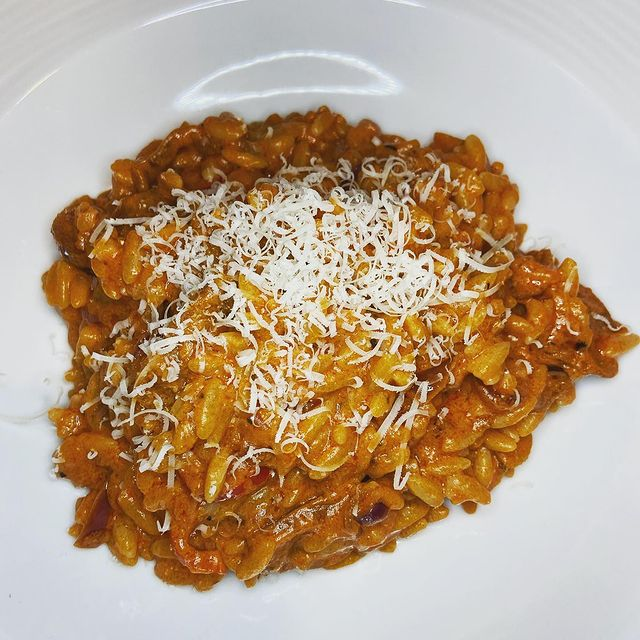 Chorizo, Chilli, Tomato & Mascarpone Orzo