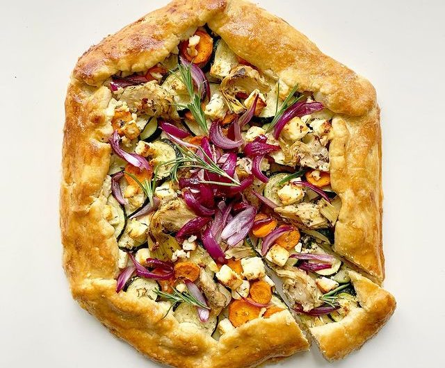 Veggie Galette With Caramelized Onions