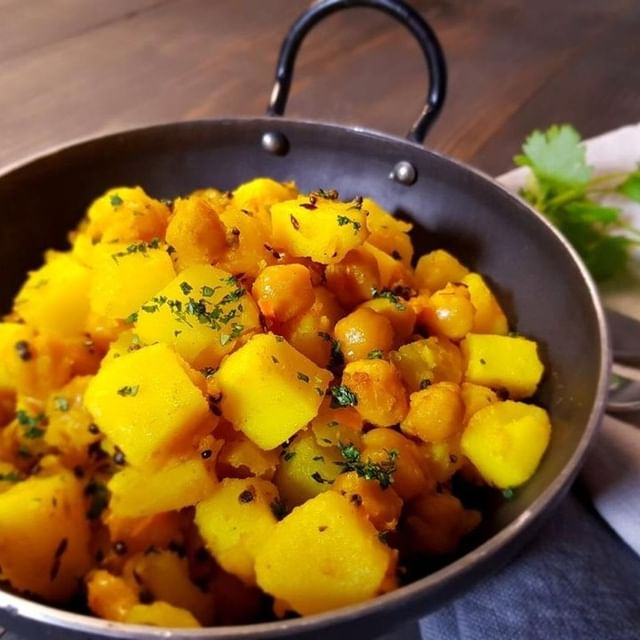 Turmeric Potatoes and Chana