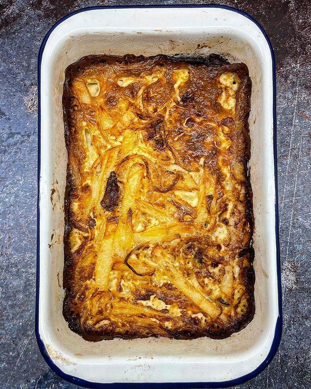 Anchovy And Potato Gratin Bake