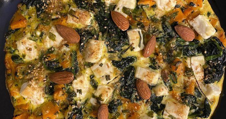Spinach And Feta, Sweet Potato Frittata