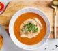 Tomato soup with almond milk