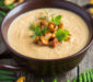 Soft chanterelle cream soup